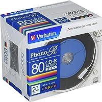 三菱化學媒體 Verbatim 音樂用 CD-R MUR80PHS20V1 (Phono-R 5色/1-24倍速/20張)