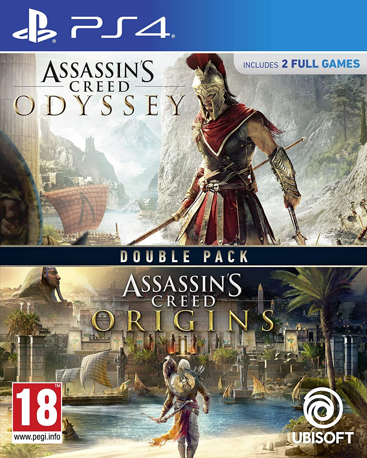 Assassins Creed Origins + Odyssey Double Pack - PlayStation 4 [Importación inglesa]: Amazon.es: Videojuegos