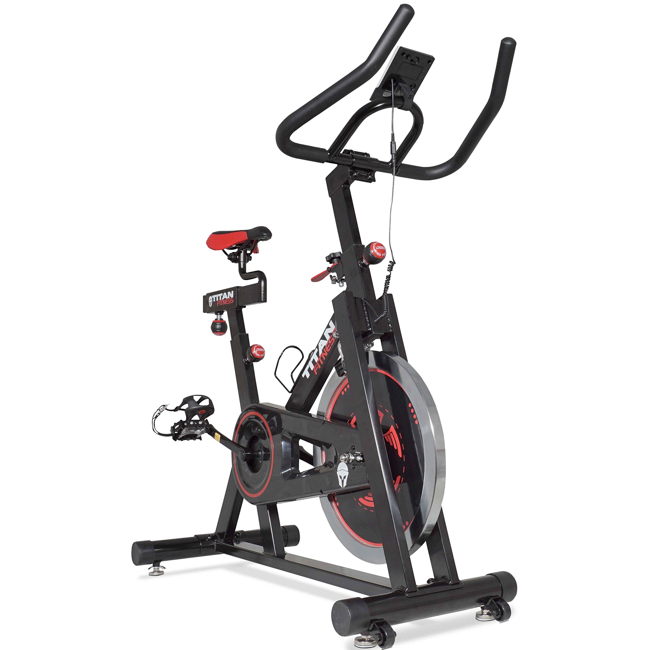 Titan Pro Indoor Exercise Bike w/ 40 lb Flywheel LCD Cycle Cardio Fitness by Titan Fitness (Image #4)