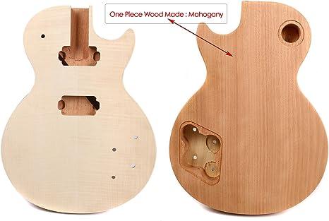 Yinfente - Cuerpo de repuesto para guitarra eléctrica de madera de ...