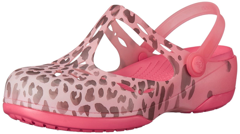 crocs Women's Carlie Leopard Fade Clog Mule