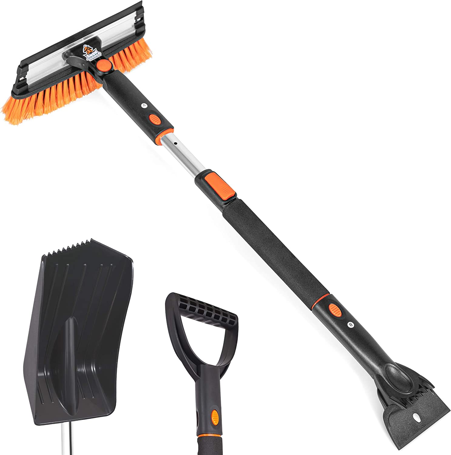 Snow Moover Extendable Snow Brush and Ice Scraper
