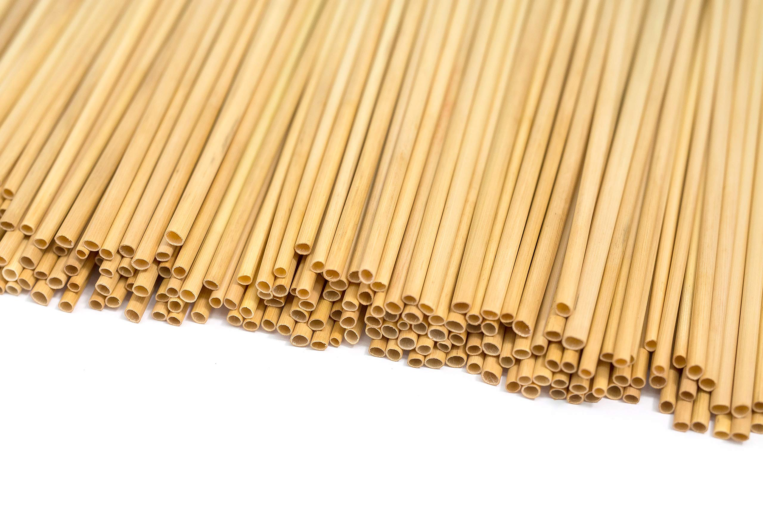 One Time Use Wheat HAY Drinking Straws – Join The #NoStrawChallenge - Biodegradable, Organic, BPA Free, and Environmentally Friendly! Start The Conversation. (200, Wheat)