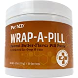 Pet MD Wrap A Pill Peanut Butter Flavored Pill Paste for Dogs - Make a Pocket to Hide Pills and Medication for Pets - 59 Serv