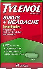 Tylenol Sinus + Headache Non-Drowsy Caplets, Sinus Pressure & Congestion Relief,