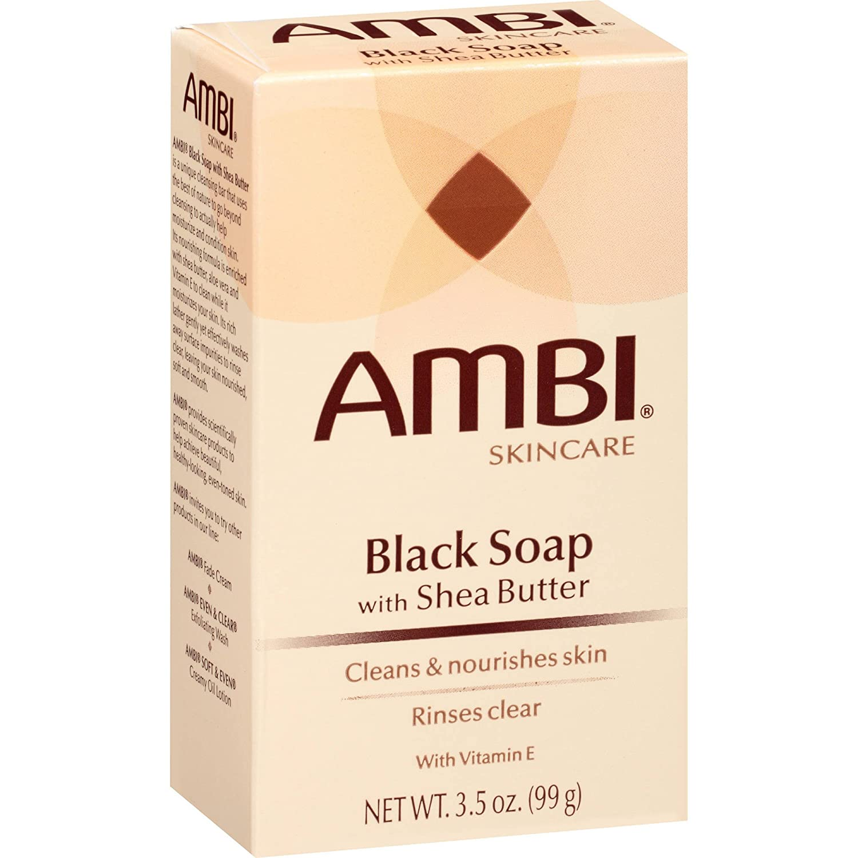 Ambi Skincare Black Soap with Shea Butter, 3.5 Oz. 483357