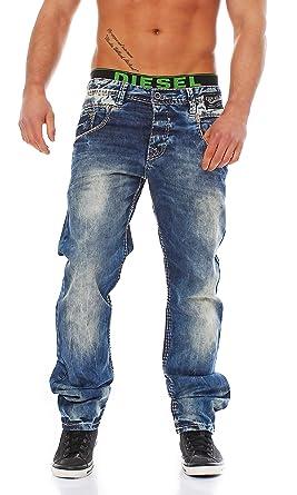 Cipo Baxx Men s Slim-Fit Jeans Trousers C-1149  Amazon.co.uk  Clothing 4402d4f55b
