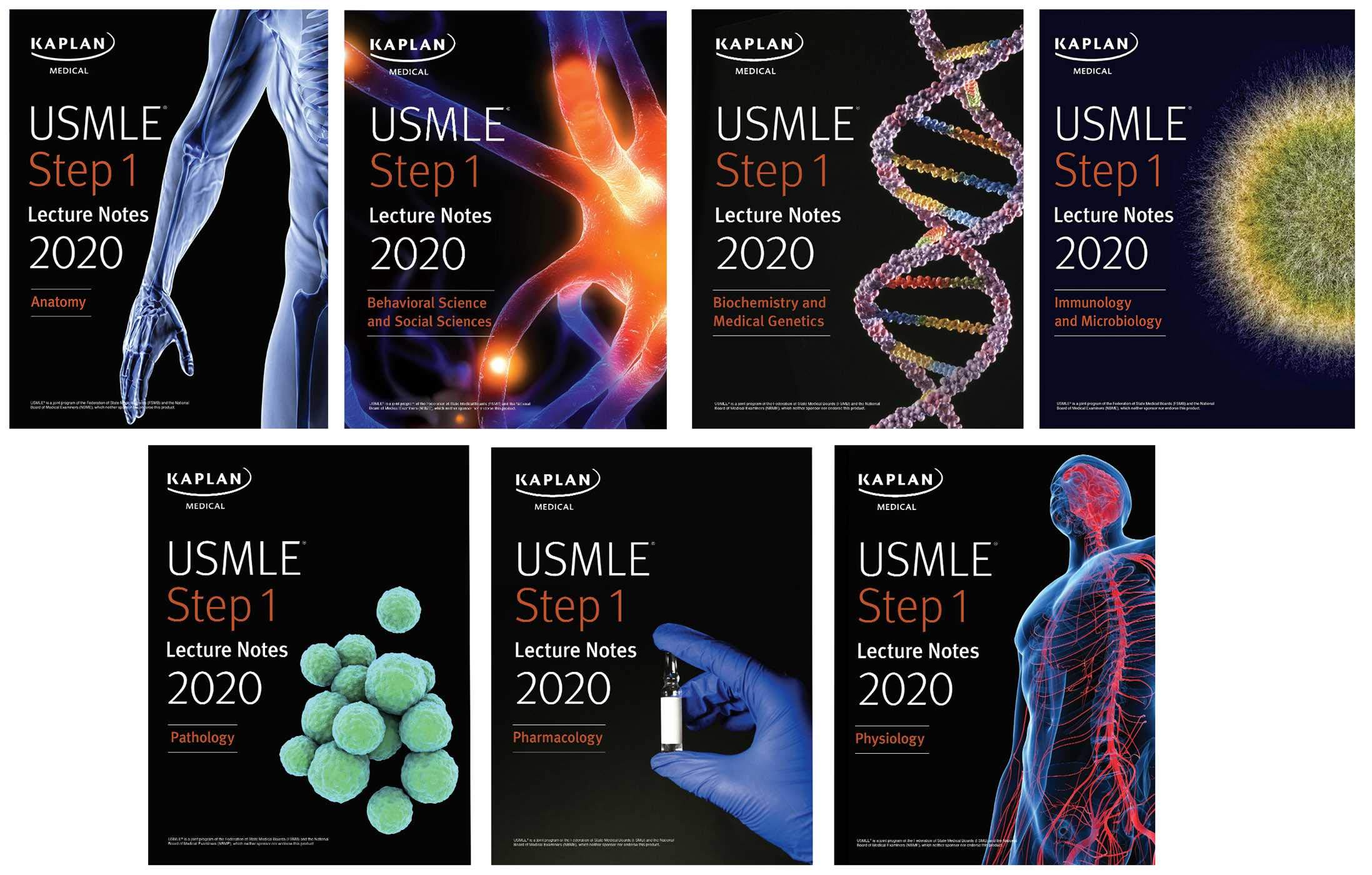 USMLE Step 1 Lecture Notes 2020  7 Book Set  Kaplan Test Prep