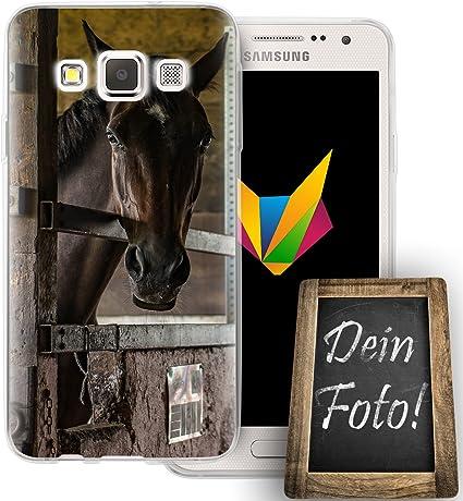 dessana Coque de téléphone en silicone TPU pour Samsung Galaxy A3 (2014-2015) Motif photo de cheval