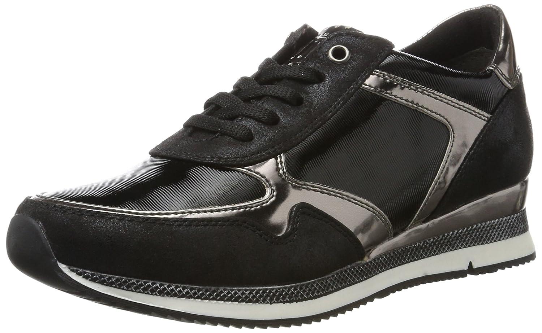23710, Sneakers Basses Femme, Noir (Black Comb), 39 EUMarco Tozzi