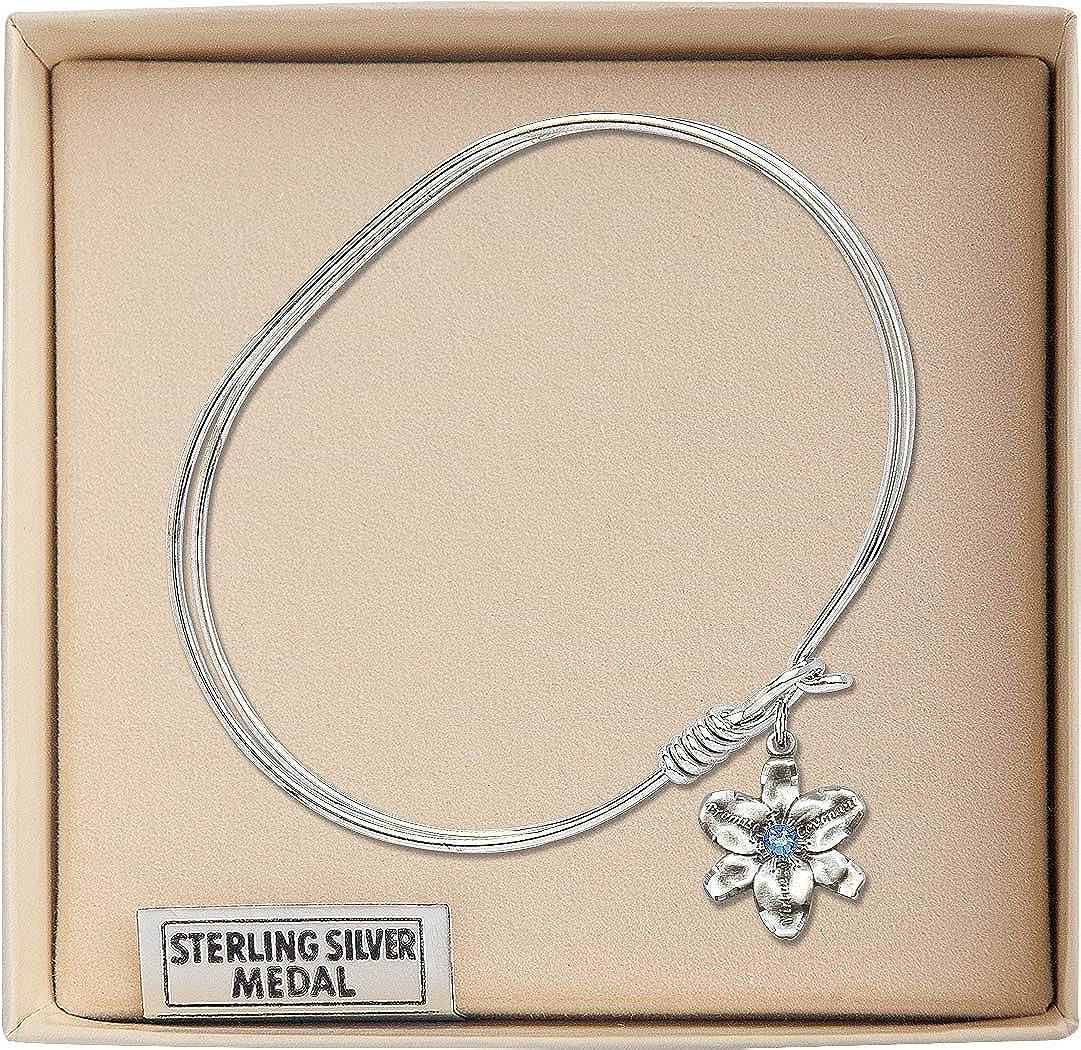 Chastity Charm On A 7 Inch Oval Eye Hook Bangle Bracelet