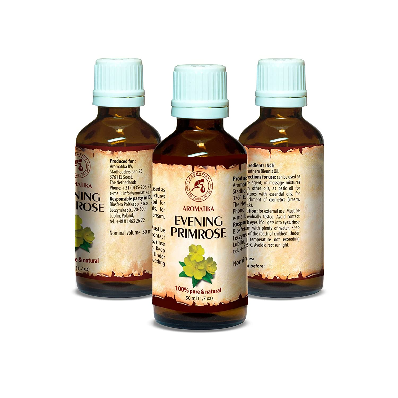 Aceite de Onagra Vespertina 50ml - Oenothera Biennis - Evening Primrose Oil - Botella de Vidrio - Prensado en Frío y Refinado - Aceite Onagra Vespertina ...