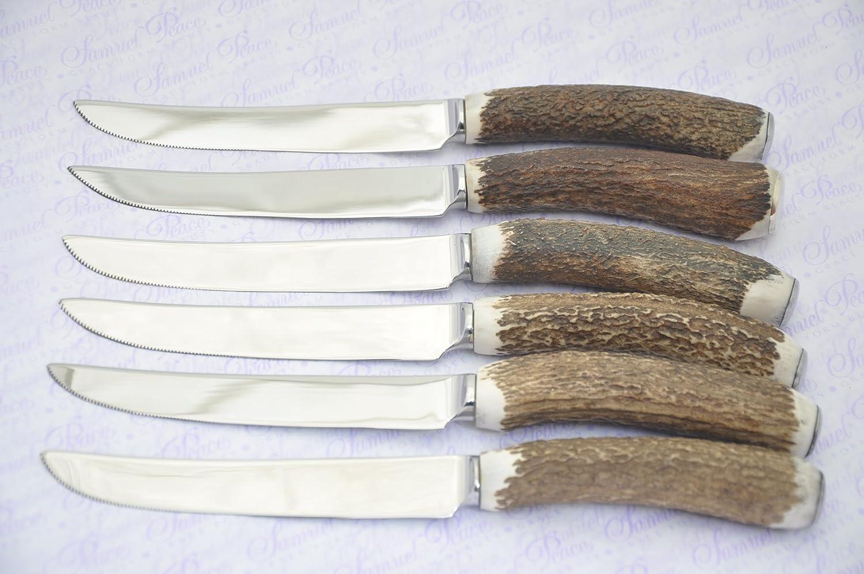 8個Extra Large Chatsworth純正Stag Horn/AntlerハンドルステーキナイフMade in in 8個Extra Sheffield England Free Chatsworth純正Stag Engraving B07D1PZCW7, 川口町:77a99c7c --- acee.org.ar