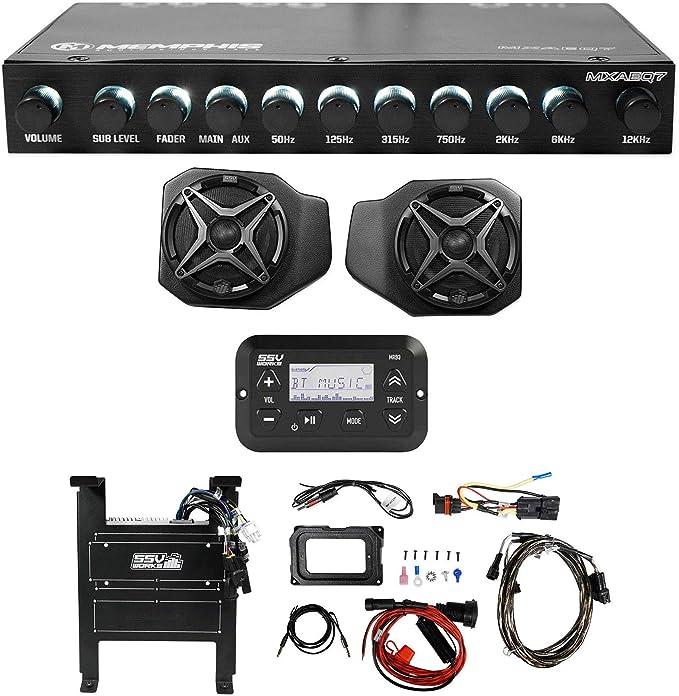 Rockford Fosgate RM1652B Speakers SSV Works RG4-F65U 2018-2019 Polaris Ranger XP 1000 6.5 Front Speaker Enclosures Unloaded