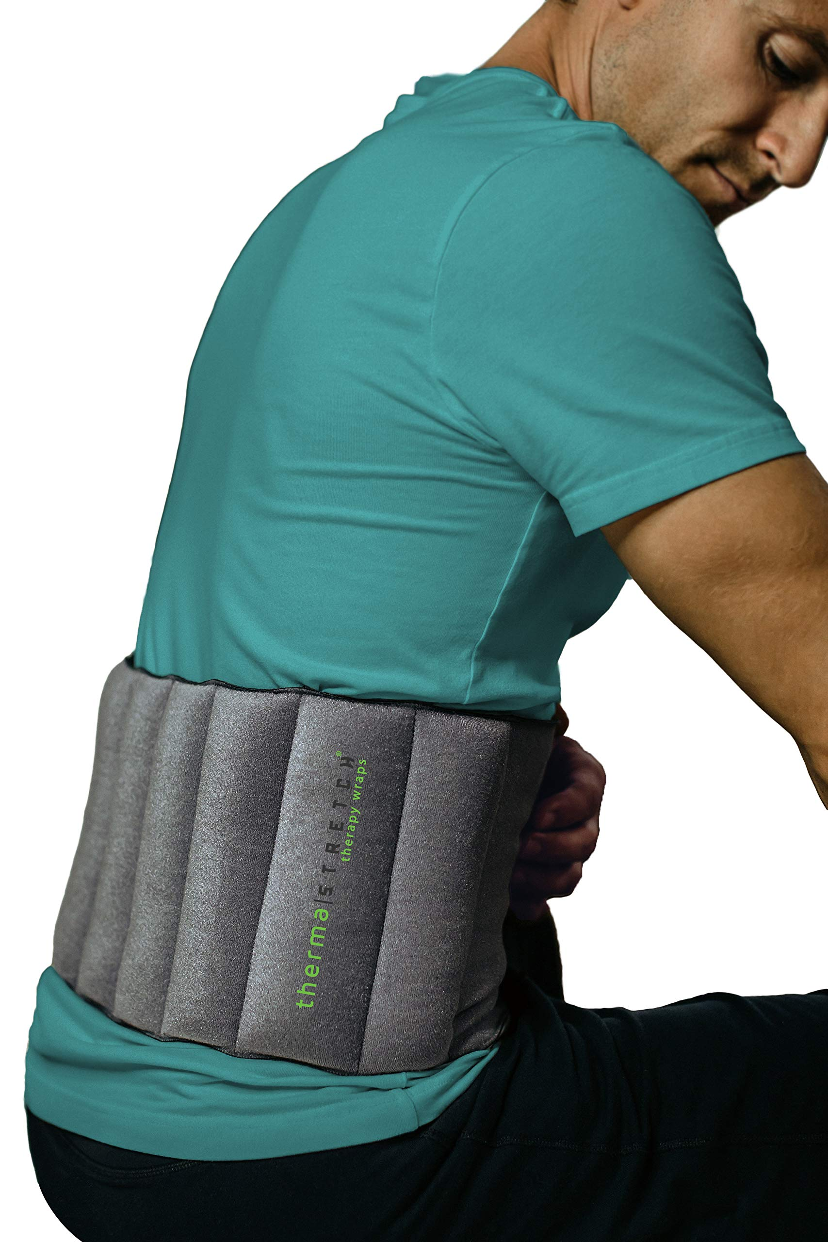 THERMA-STRETCH Back Heating Pad - Microwaveable Lumbar Wrap for Herniated Disc, Sciatica Arthritis, Back Muscle Pain Relief and Recovery - Natural, Adjustable and Stretchable Therapy that STAYS by Therma-Stretch