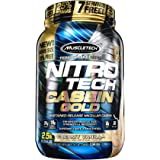 MuscleTech Nitro Tech Casein Gold 100% Protein Powder Vanilla Bliss, 2.5 Pound