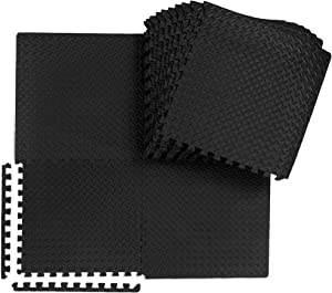 """Best Choice Products 24-Piece Puzzle Exercise Mat, Multipurpose Floor Interlocking Tiles Protective Floor Workout Gym Mat, 24 x 24 x 3/8"""", 96 sq. ft."""