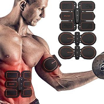 BALFER Stimulateur Musculaire ABS - Électrostimulation abdominale -  Ceinture de stimulation EMS muscles des jambes et 77a1350eff7
