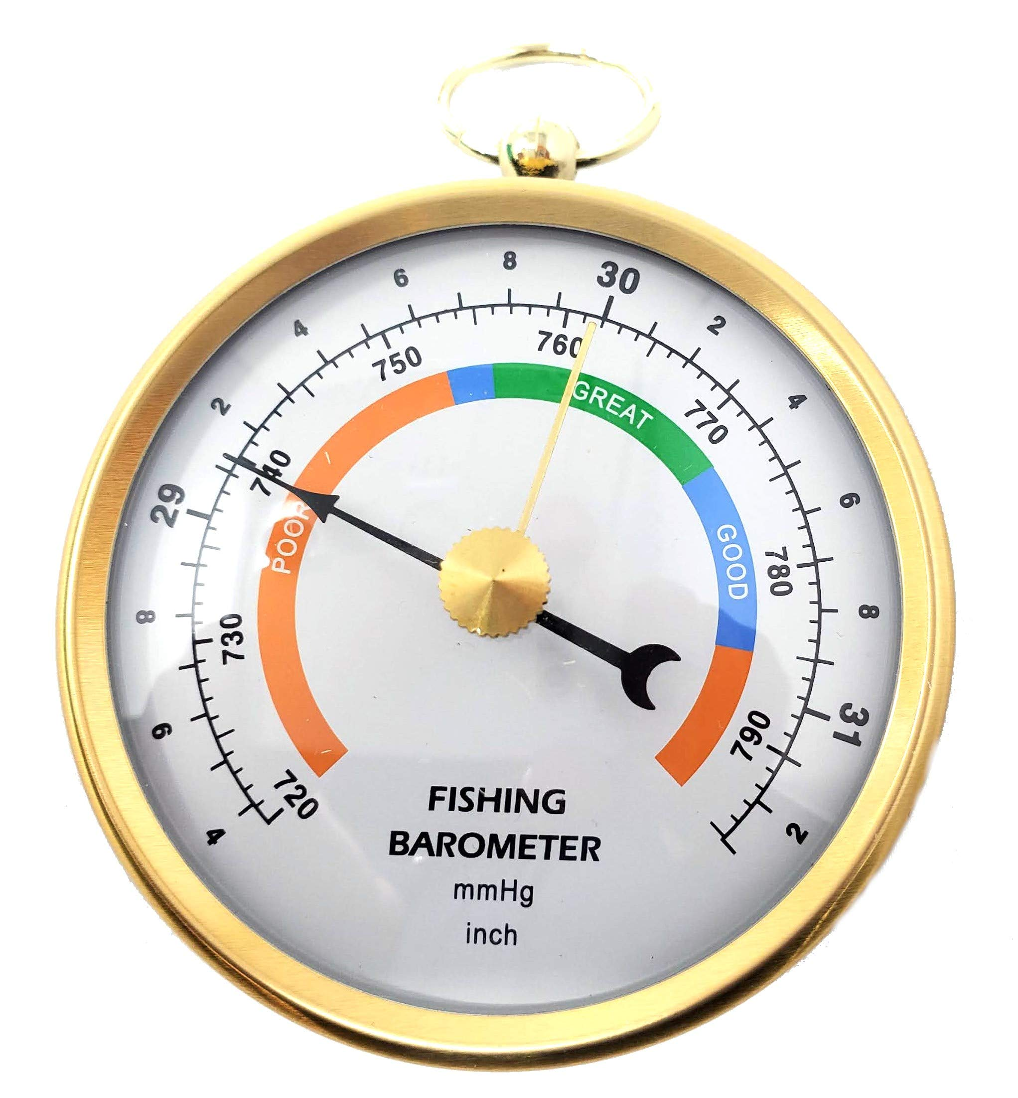 Ambient Weather DHR70B-BRASS DHR70B Handheld Fishing Barometer