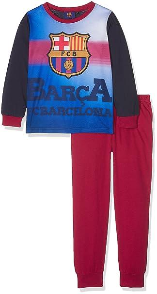 Barcelona F.C. Boys PJ, Conjuntos de Pijama para Niños, Multicoloured (Claret/Navy