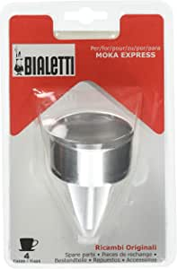 Bialetti Confección de Recambios 1 Embudo para Cafetera, 4 Tazas ...