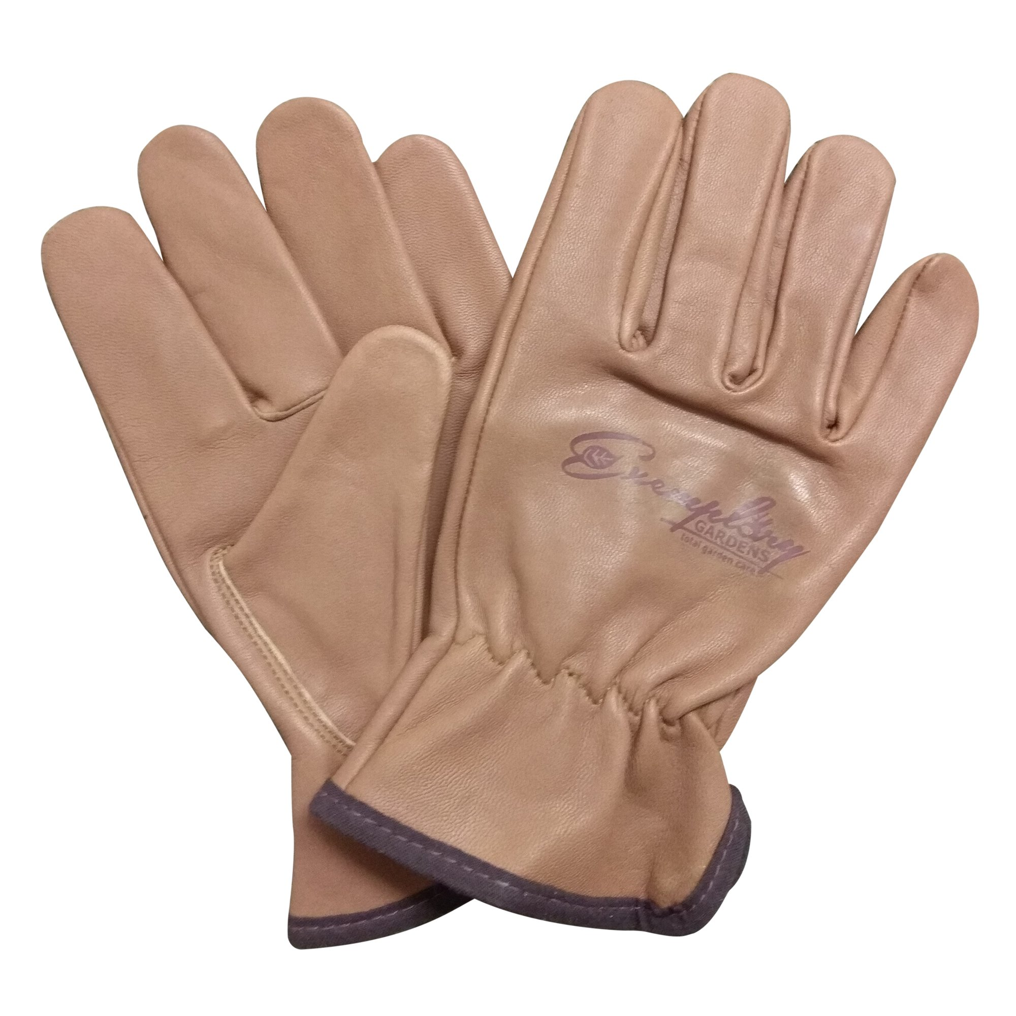 Heavy Duty Goatskin Leather Work Gloves for Men and Women. General Purpose Utility, Driver, Rigger, Safety, and Gardening Gloves (Extra Small, Brown)