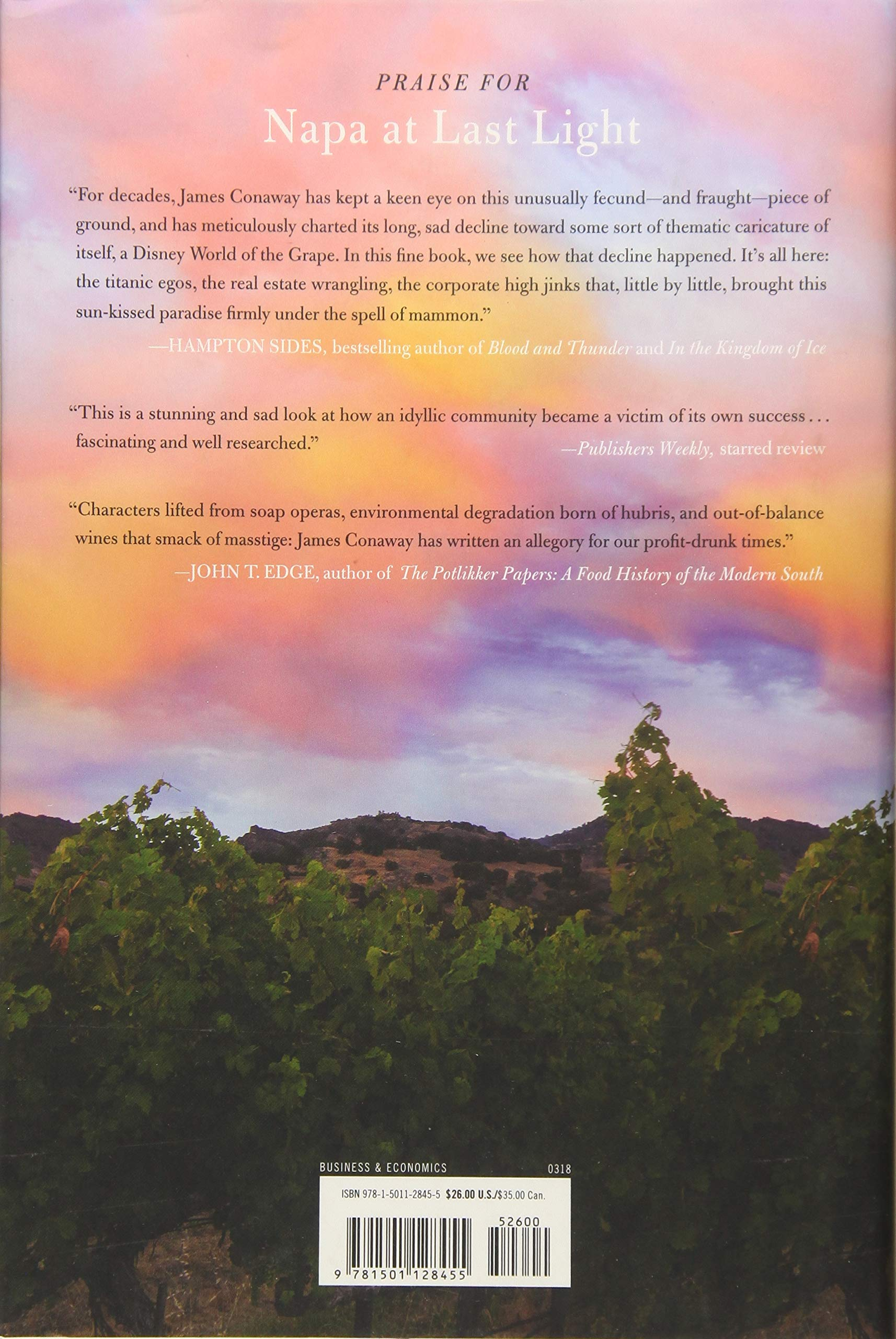 Napa At Last Light Americas Eden In An Age Of Calamity James