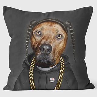 Rap (en negro) - cojín de Pets Rock Welovecushions