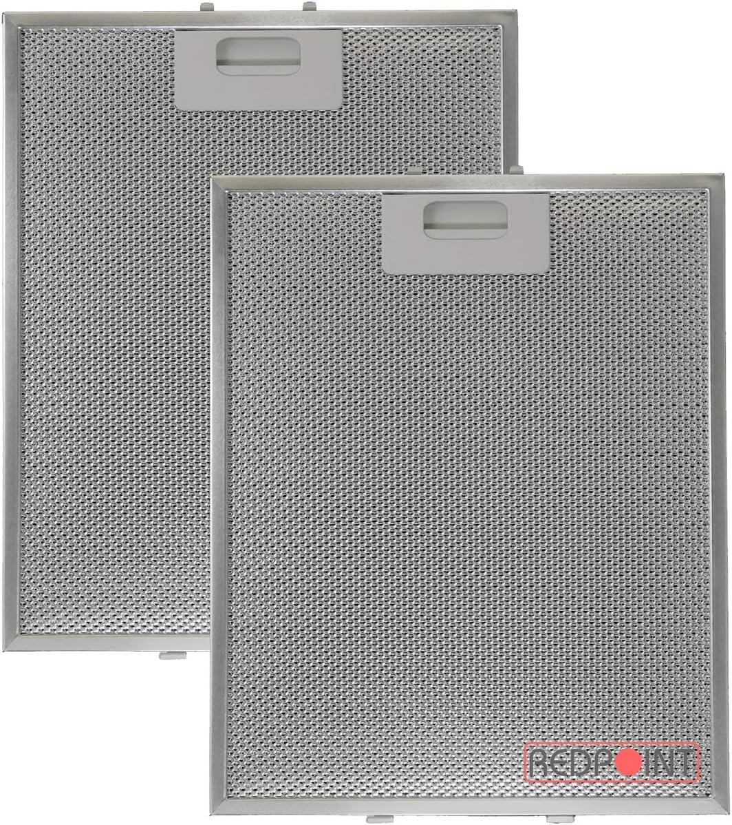 Kit de 2 filtros de aluminio para campana Elica, 260 x 320 x 9 mm, adaptable: A.E.G/NEFF/BAUMATIC/HOTPOINT/INDESIT/ELICA/TEKA