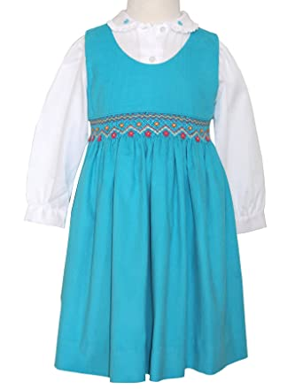 49378cdb4 Amazon.com  Carouselwear Hand Smocked Girls Fall Winter Corduroy ...