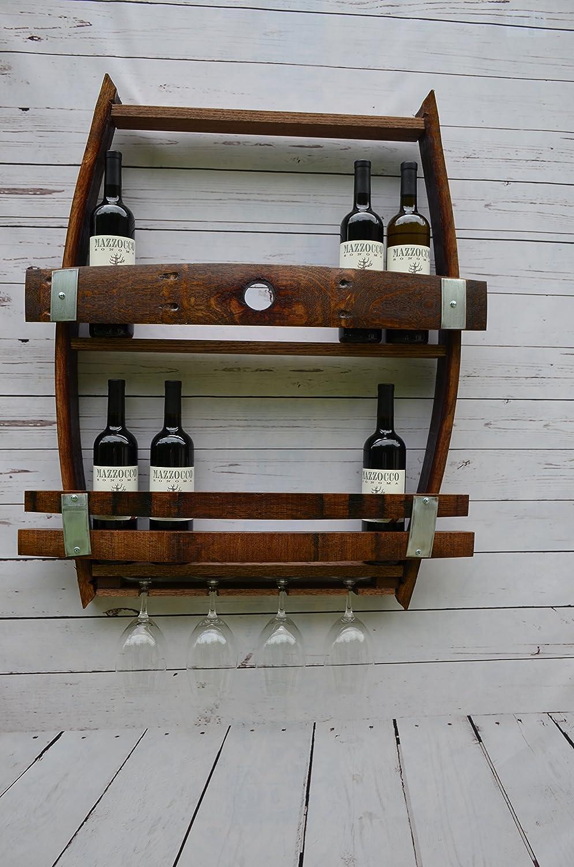 reclaimed wine barrel liquor cabinet Full Wine barrel wine rack