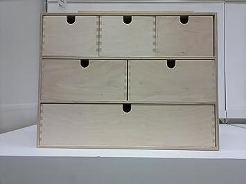 Ikea Mini Holz Kommode 6 Schubladen Aufbewahrungsbox Schmuck Box