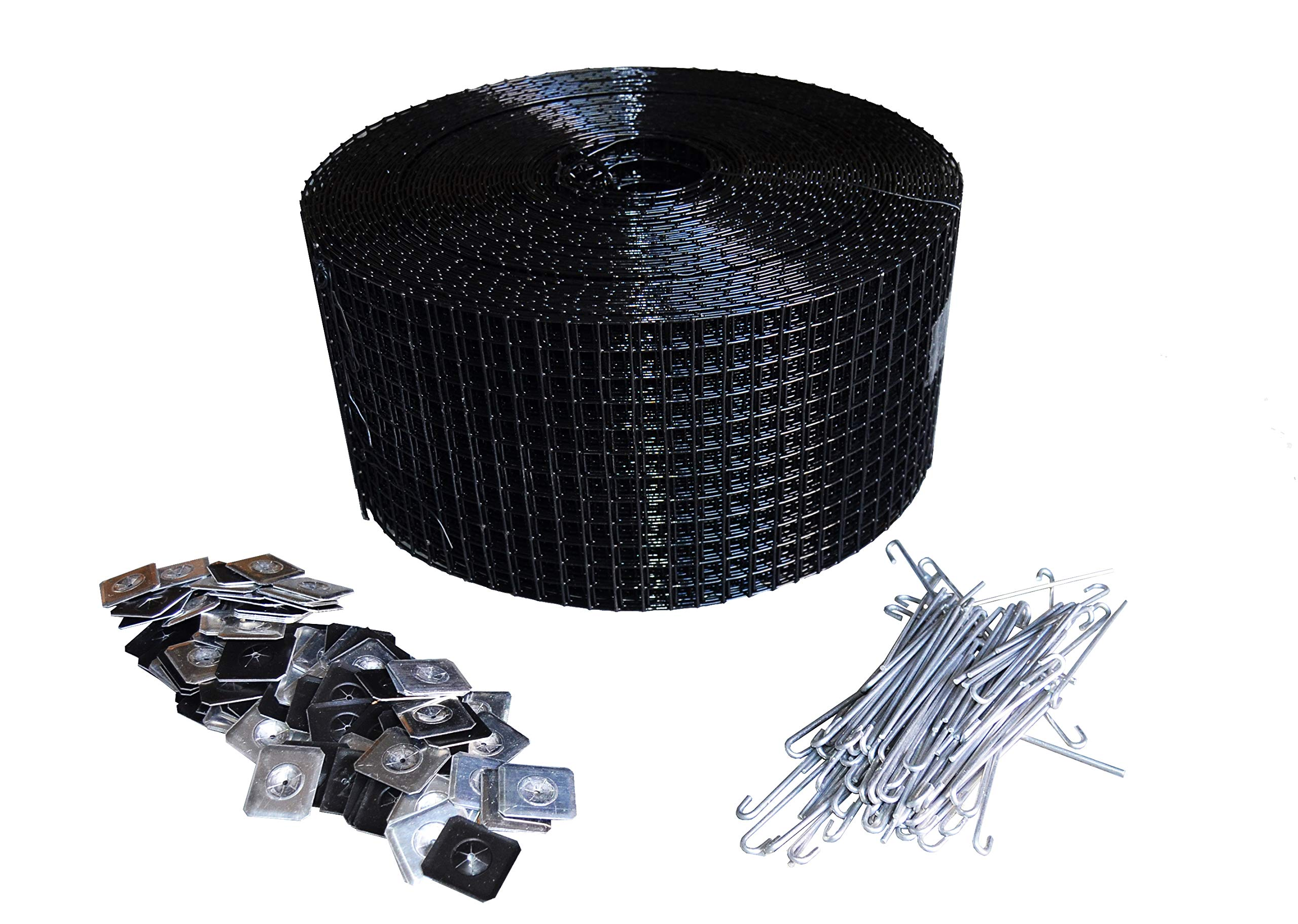 6'' Squirrel Guard Kit. 6 in. 100 ft. PVC Coated Galvanized Steel roll and 100 Aluminum Fasteners.
