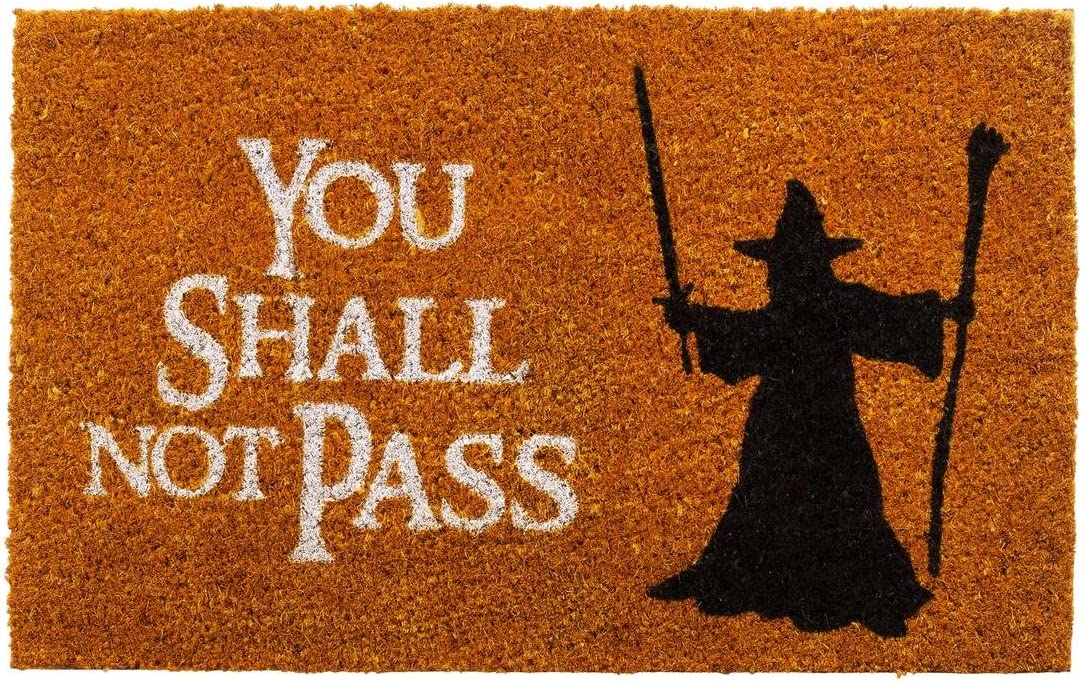 getDigital Doormat You shall not pass – Carpet Entrance Rug Front Door Welcome Mat – Made from high-quality coco coir fibers – Perfect for LotR lovers – Orange-Brown, 23.7 x 15.7 inch