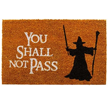 getDigital Doormat You shall not pass | Carpet Entrance Rug Front Door Welcome Mat | Made from coco coir fibers | Perfect for Lord of the Rings lovers | Orange-Brown 23.7 x 15.7 inch