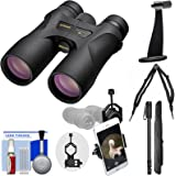 Nikon Prostaff 7S 10x42 ATB Waterproof / Fogproof Binoculars with Case + Harness + Smartphone Adapter + Tripod Adapter + Monopod + Cleaning Kit