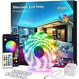 Led Strip Lights, 16.4ft Bluetooth APP Controller RGB LED Light Strip, 5050 LEDs Music Sync Color Changing LED Strip…
