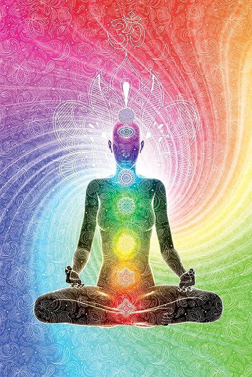 Amazon.com: THE SEVEN CHAKRAS - YOGA MEDITATION POSTER 24in ...