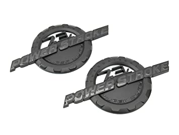 2 nuevo negro mate Ford Custom 7.3L F250 F350 Powerstroke Puerta Badges Emblems Set Par: Amazon.es: Coche y moto