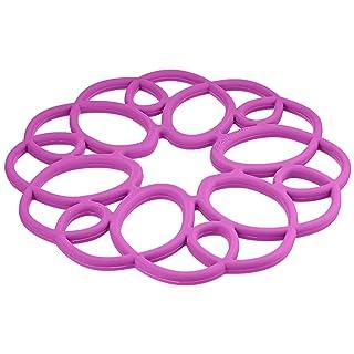 Rachael Ray Silicone Heat Resistant Multi-Use Medallion Design Trivet, Purple