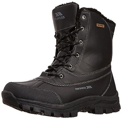 Trespass Hikten, Black, 41, Winter Boots for Men, UK Size 7,