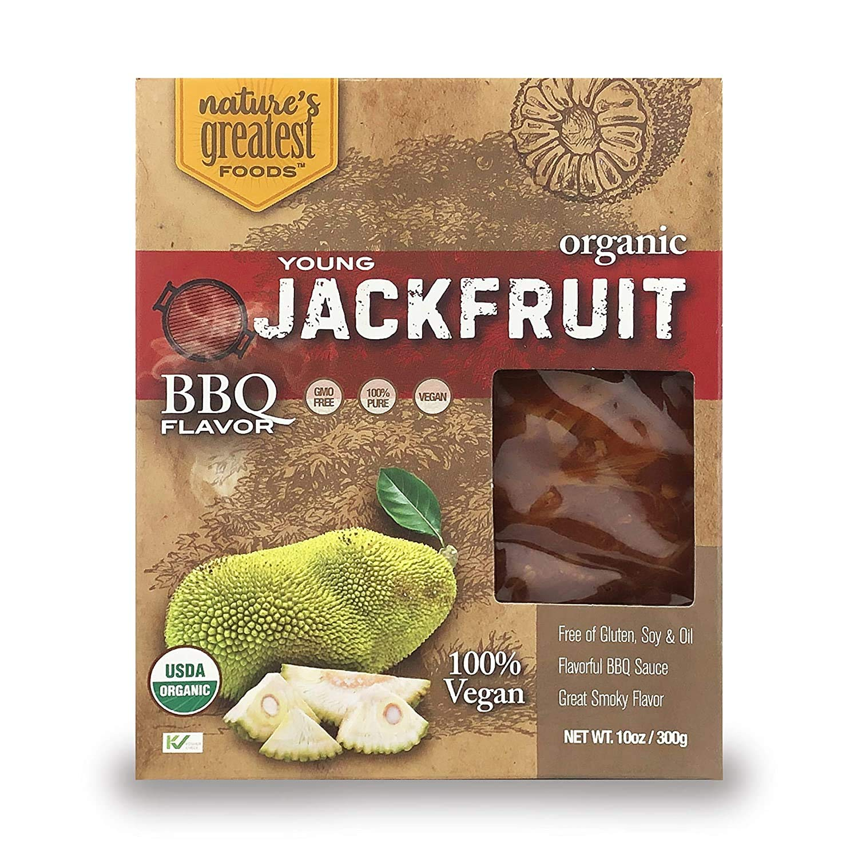 Nature's Greatest Foods, Organic Jackfruit, Vegan, Gluten-Free, 10 Ounce (6 Pack) (BBQ FLAVOR)