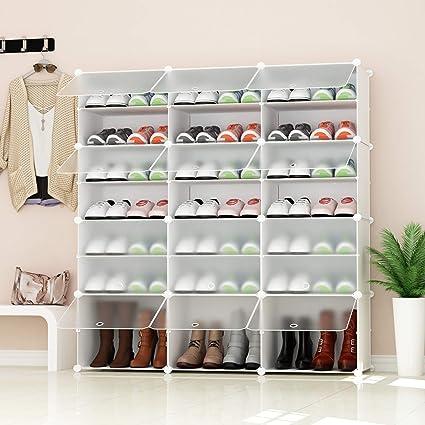 Premag Portable Shoe Storage Organizer Tower Weiß Mit Transparenten Türen Modular Cabinet Regale Für Platzsparende Schuhregal Regale Für Schuhe