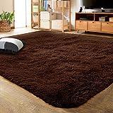 LOCHAS Ultra Soft Indoor Modern Area Rugs Fluffy Living Room Carpets for Children Bedroom Home Decor Nursery Rug 5.3x7.5 Feet