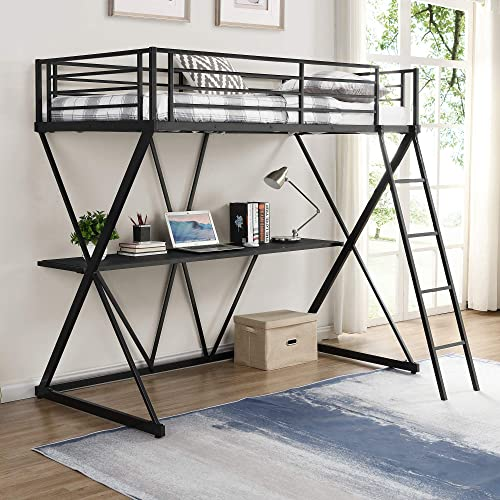 SOFTSEA Metal Loft Bed