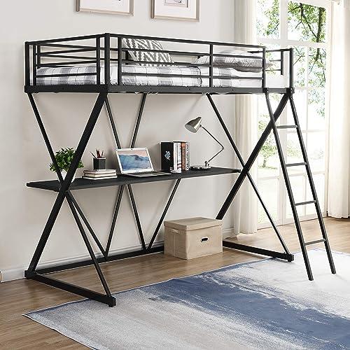 SOFTSEA Metal Loft Bed