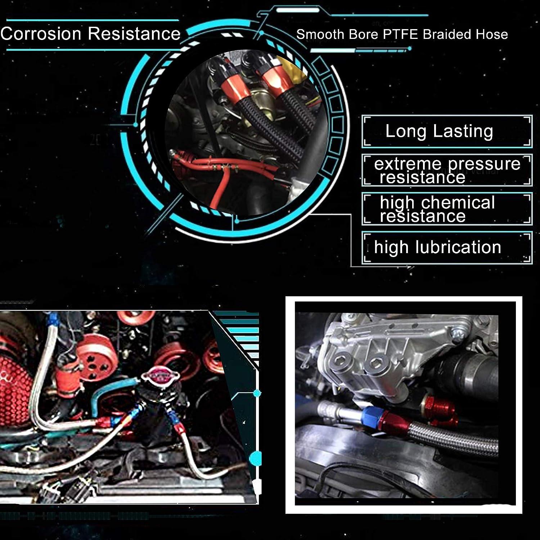 EVIL ENERGY 6AN Teflon PTFE E85 Fuel Line Kit Nylon Braided 16Ft