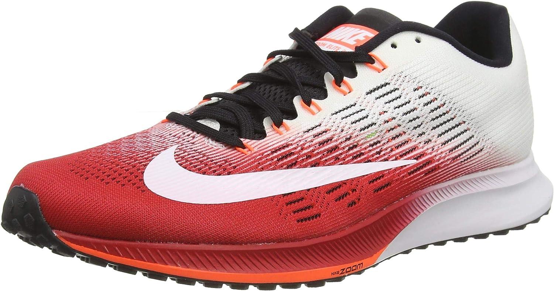 Nike Air Zoom Elite 9 Unidad para Hombre, Blanco/Rojo: Amazon.es: Deportes y aire libre