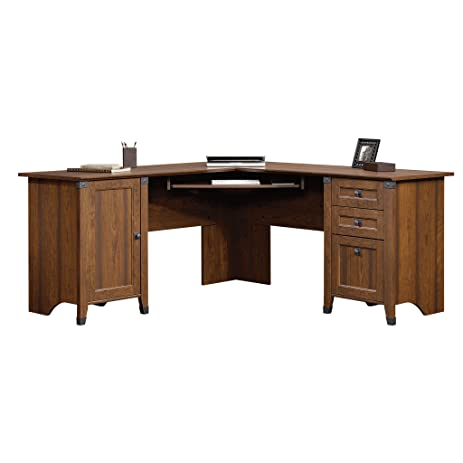 Sauder 416969 Carson Forge Corner Computer Desk, Washington Cherry
