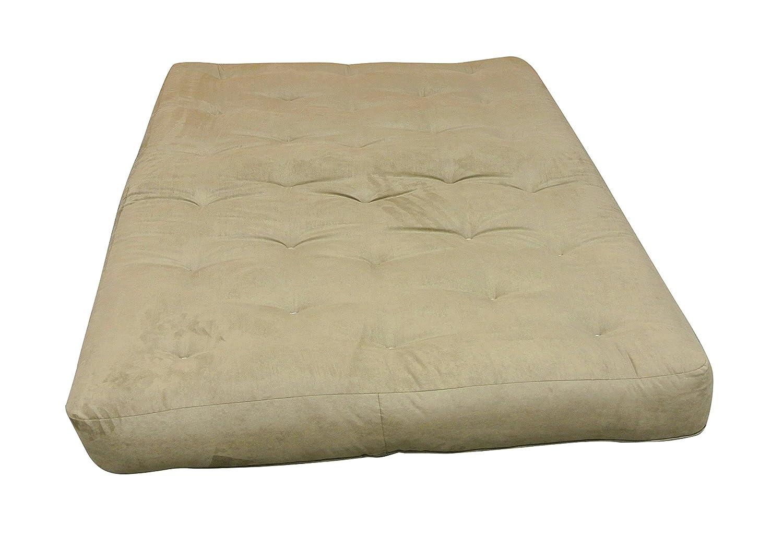 Brown 9 H x 30 W x 75 L 9 H x 30 W x 75 L Saddle Leather Gold Bond 0614P0-0115 Moonlight Cotton Futon Mattress